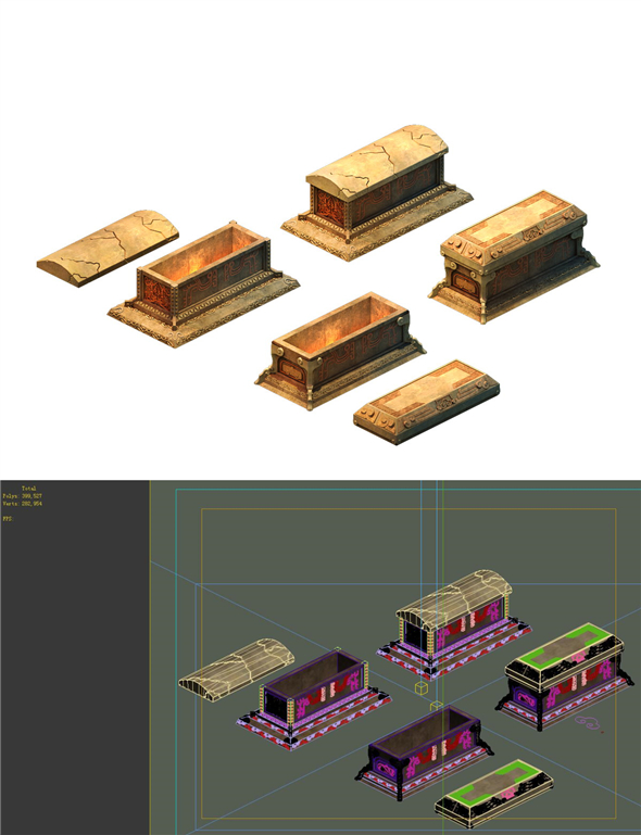Game model - the main tomb room sarcophagus panorama 02 - 3DOcean Item for Sale