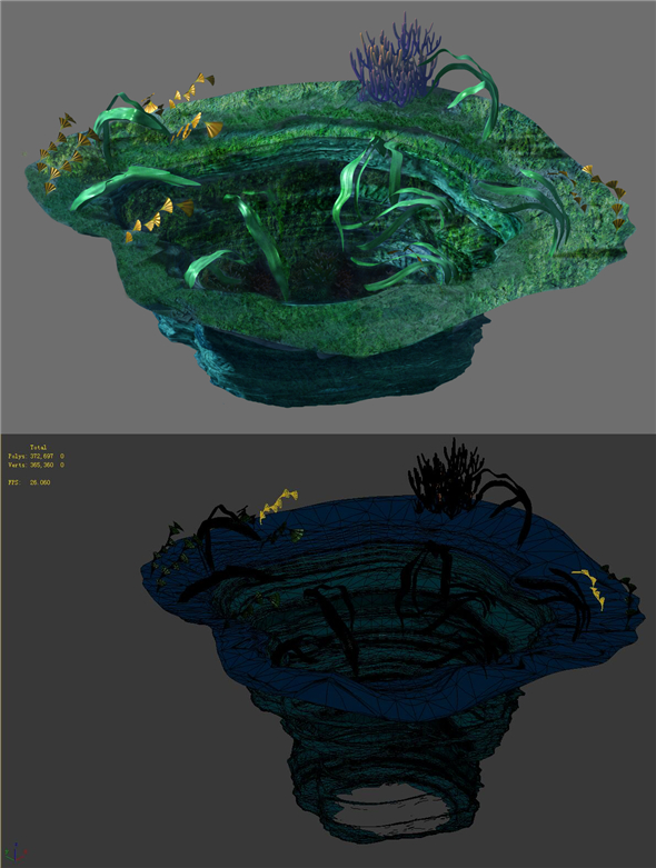 Game Model - Seabed - Big Swirl - 3DOcean Item for Sale