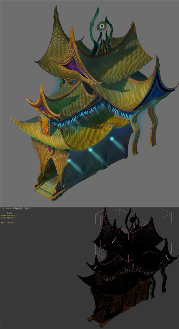 Game Model - Seabed - Palace - 3DOcean Item for Sale