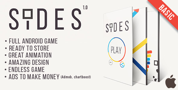 Sides (Basic version) -  IOS Game Template + AdMob + Chartboost - CodeCanyon Item for Sale