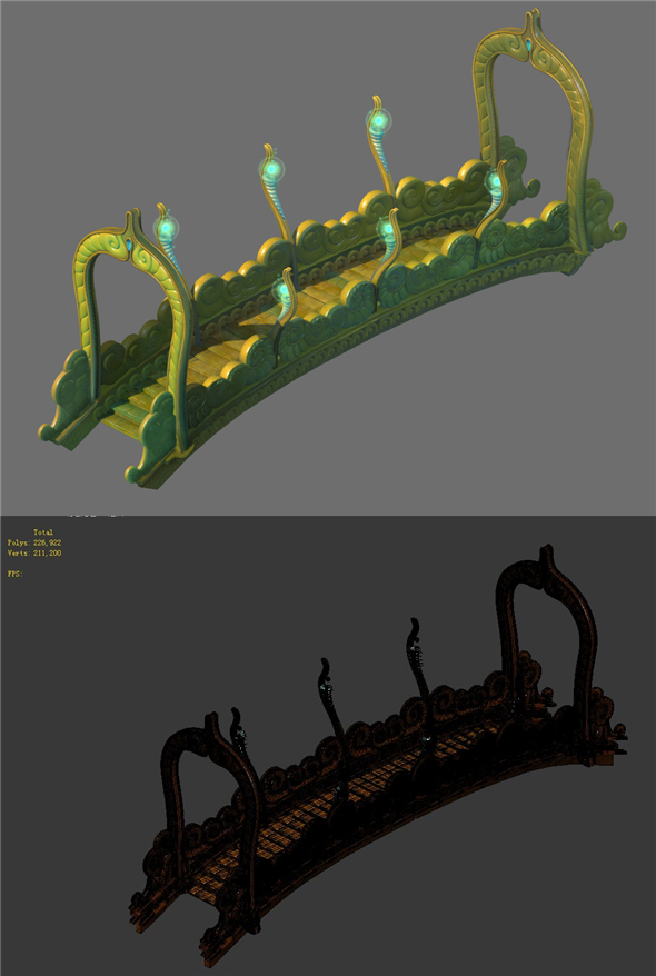 Game Model - Seabed - Seabed Golden Bridge - 3DOcean Item for Sale