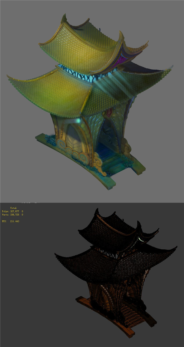 Game model - the seabed - side of the temple building - 3DOcean Item for Sale