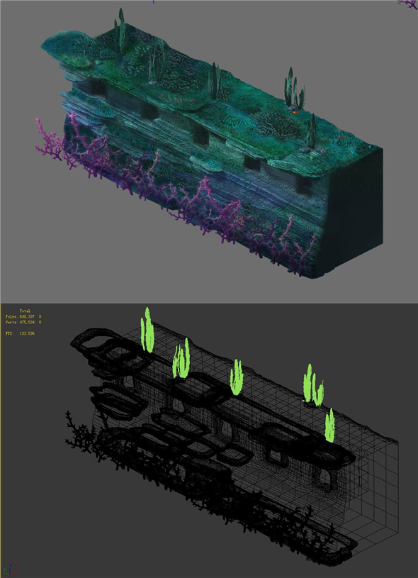 Game Model - Underwater Coral Wall 3 - 3DOcean Item for Sale