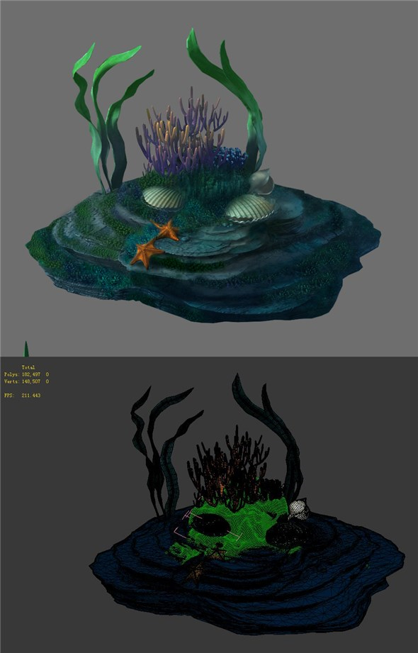 Game Model - Seabed - Coral Reef - 3DOcean Item for Sale