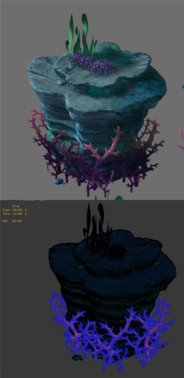 Game Model - Seabed - Coral Tree 2 - 3DOcean Item for Sale