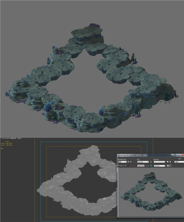 Game Model - Seabed Cliff 1 - 3DOcean Item for Sale