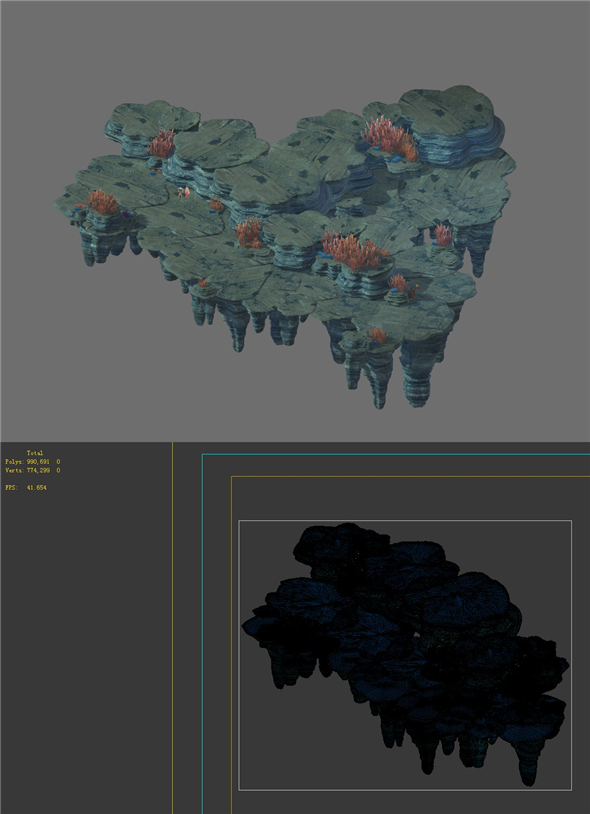 Game Model - Seabed Cliff 5 - 3DOcean Item for Sale