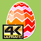 Four Rotating Different Easter Egg Designs Elements 4K