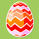 Four Rotating Different Easter Egg Designs Elements