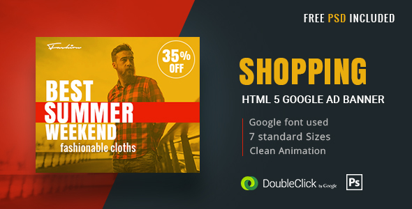 Shopping - HTML5 Animated Banner 17
