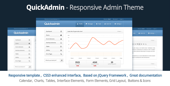 ThemeForest Quick Admin Responsive Admin Template 1934639