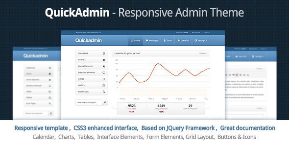 Quick Admin - Responsive Admin Template - Admin Templates Site Templates
