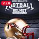 Realistic Football helmet Mockup / Full customizable
