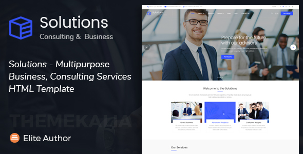 Solutions - Multipurpose Business, Consulting Services HTML Template
