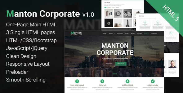 Manton - Corporate HTML Template