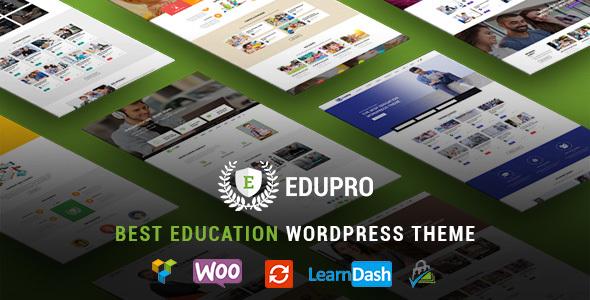 Фото Wordpress Template  Education WordPress Theme Pro - Education WP Theme — edupro preview.  large preview