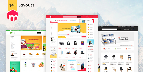 Фото Шаблон Wordpress  Mega Shop - WooCommerce Multi-Purpose Responsive Theme — 00.Theme Preview.  large preview