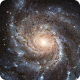 Moving Closer To Pinwheel Galaxy Through Starfield