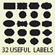 32 Useful Labels Photoshop Shapes