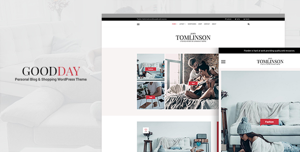 GoodDay - Personal Blog and WooCommerce WordPress Theme