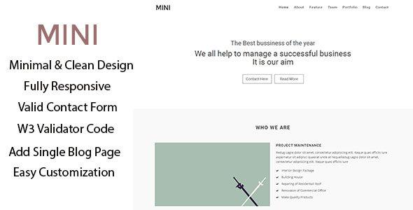 Mini –  Business Minimal Template