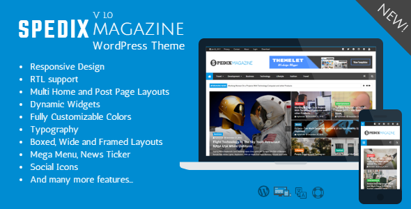 Spedix – Responsive WordPress News and Magazine Theme (Weblog / Magazine)