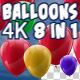 4K Balloons Pack V1 8 in 1