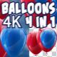 4K Balloons Pack V2 4 in 1