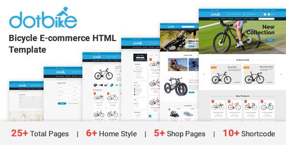 DotBike – Bicycle e-commerce HTML Template (Purchasing)