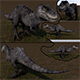 T-rex 3D ( Full textures & edition )