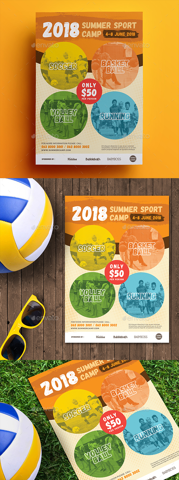 Summer Sport Camp Flyer 2