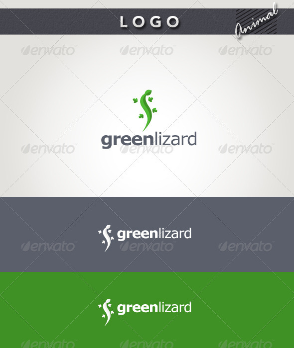 Graphic River Green Lizard Logo Logo Templates -  Animals 1931948