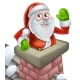 Santa in Chimney Christmas Cartoon
