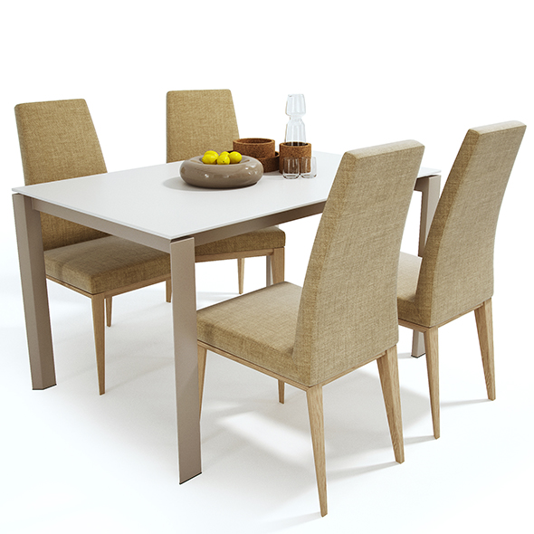 Calligaris set - 3DOcean Item for Sale