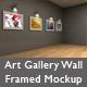 Art Gallery Wall Framed Mockup