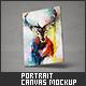 Portrait Canvas Mock-Up