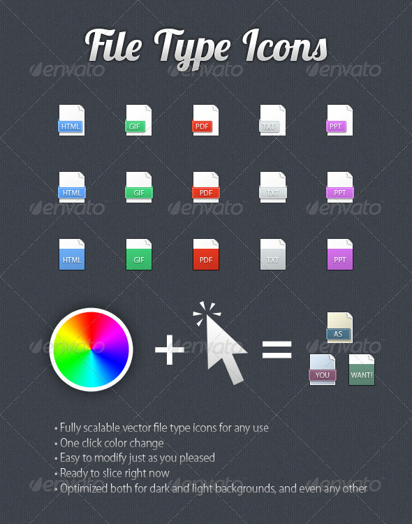 File Type Icons - Web Icons