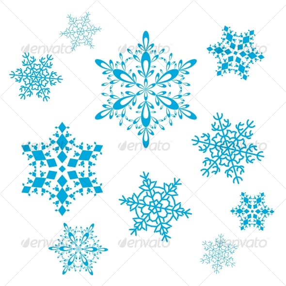 Vector set of snowflakes - Decorative Symbols Decorative