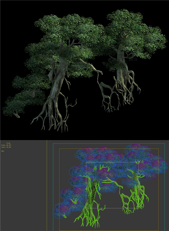 Game Model - Kashayana Buddha Forest ruins tree - 3DOcean Item for Sale