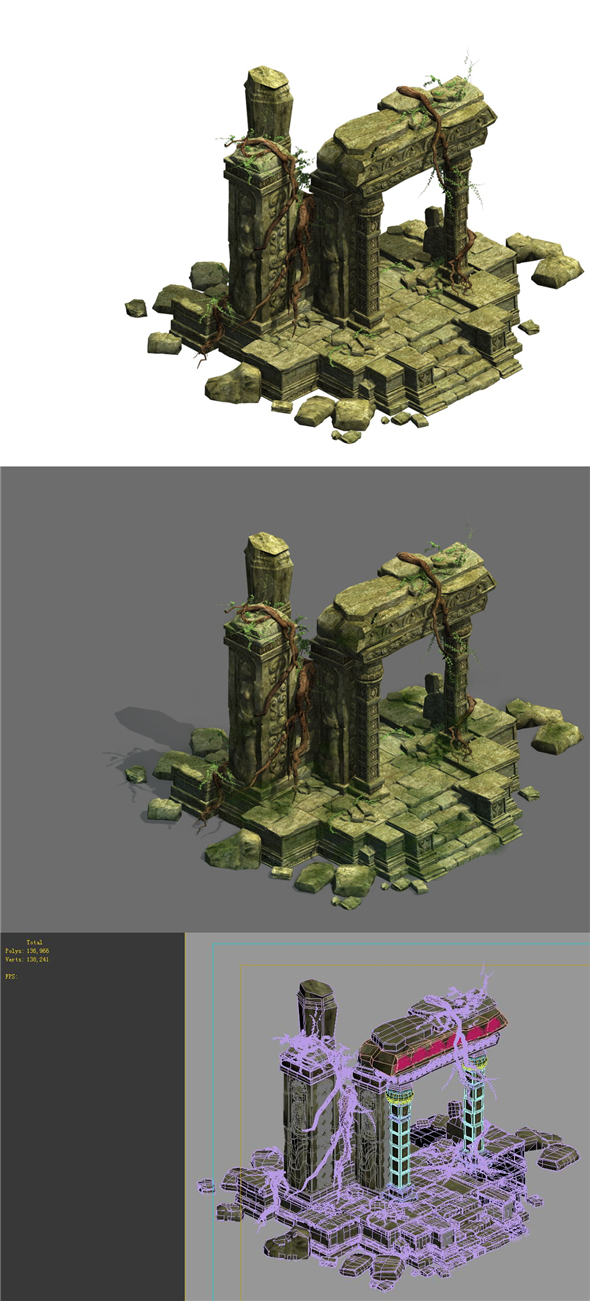 Game Model - Kashayana Buddha in the ruins of the forest 1 - 3DOcean Item for Sale