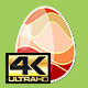 Four Red Rotating Different Easter Egg Designs Elements 4K