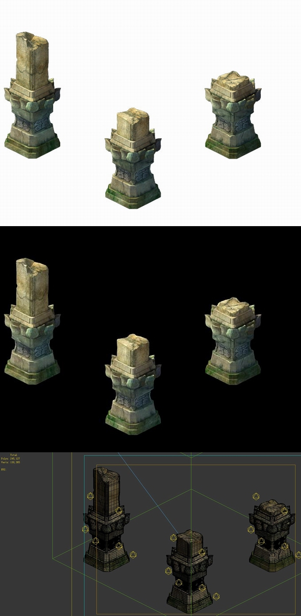 Game Model - Kashayana Buddha Forest Stone Magic Arrow 02 - 3DOcean Item for Sale