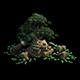 Game Model - Kashayana Buddhist Forest Broken Water Pagoda