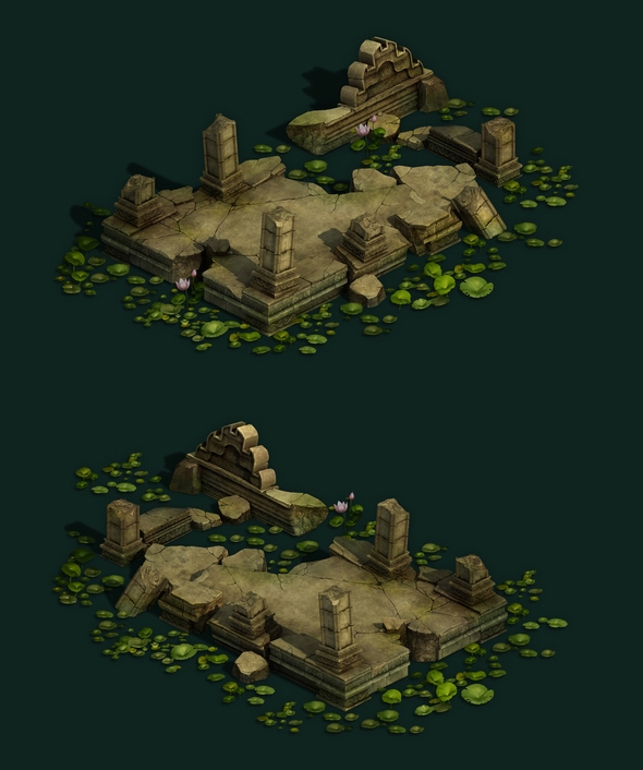 Game Model - Kashayana Buddha Forest Water Cloister 02 - 3DOcean Item for Sale