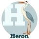 ABC Cartoon Heron