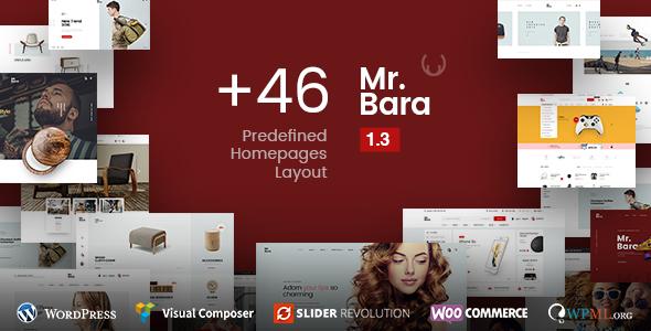 Фото Template Wordpress  Mr.Bara - Responsive Multi-Purpose eCommerce WordPress Theme — preview.  large preview