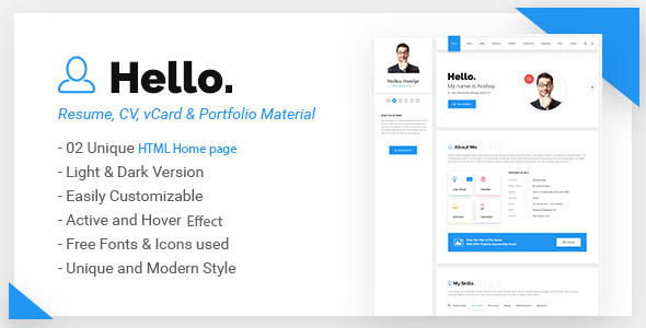 read more - Free Resume Html Template