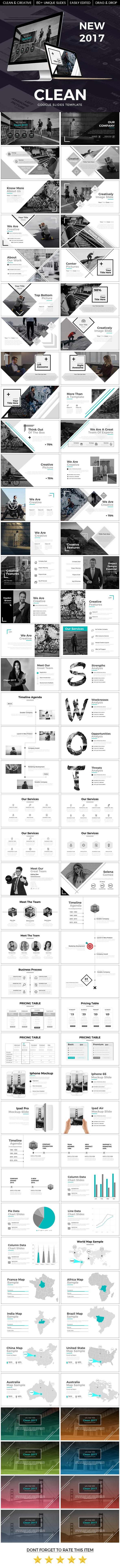 Clean 2017 Google Slide Template