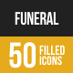 Funeral Filled Low Poly B/G Icons