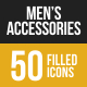 Men's Accessories Filled Low Poly B/G Icons